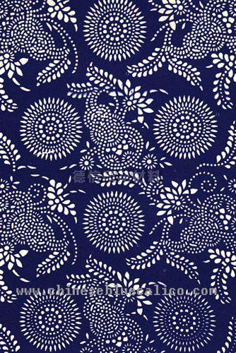 蓝色的花纹叫什么印法?